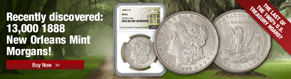 1888-O Great Southern Hoard Morgan Dollar NGC MS 63