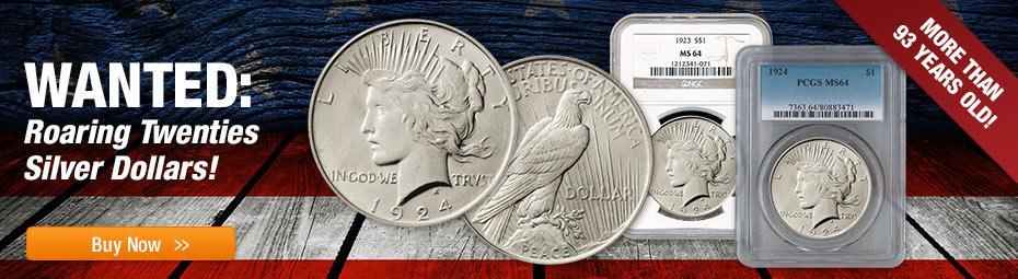 1922-1925 Peace Dollars MS64