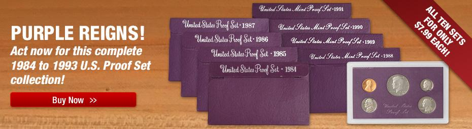 Purple Proof Set Collection