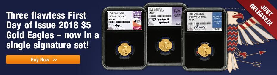Gold Eagle 1/10 oz 3 pc Set