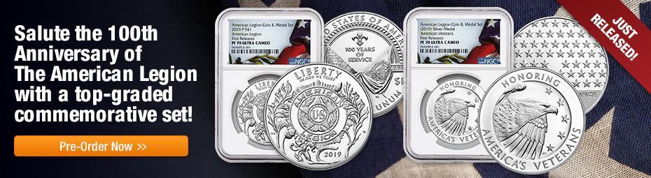 American Legion 2 Coin Set