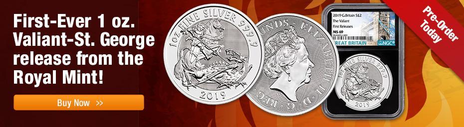 2019 1oz silver valiant