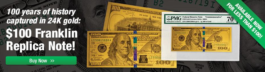 Franklin Gold Replica Notes