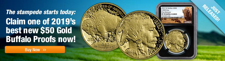 2019-W Proof Gold Buffalos