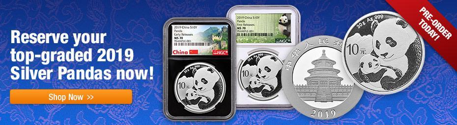 2019 Graded Silver Pandas!