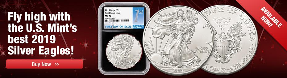 2019 Certified Silver Eagles Now In Stock