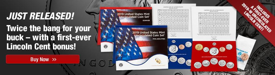2019 US Mint Set with W UNC Penny