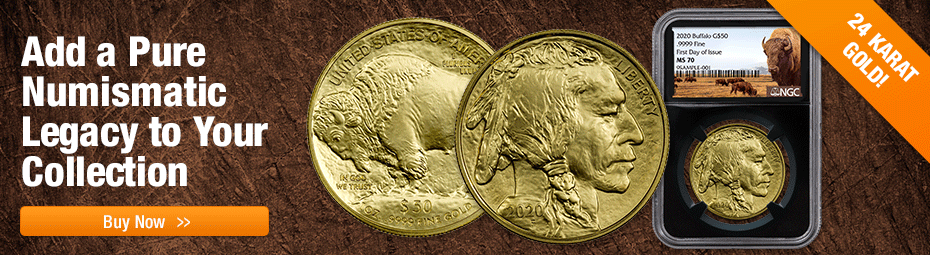 2020 Bullion Gold Buffalos In stock