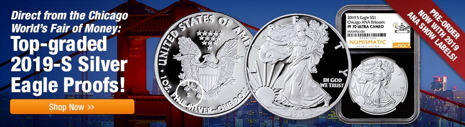 ANA 2019-S Proof Silver Eagles