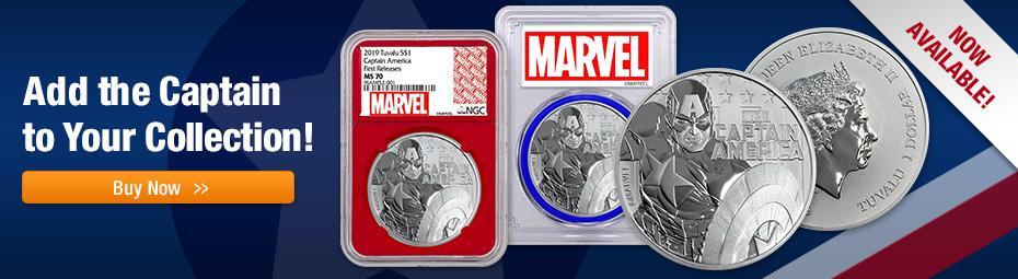 Shop Captain America Coins Today!