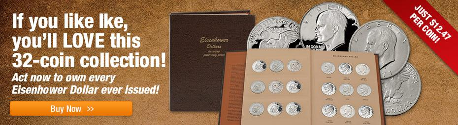 1971-1978 Ike Silver Dollar 32-pc Collection!