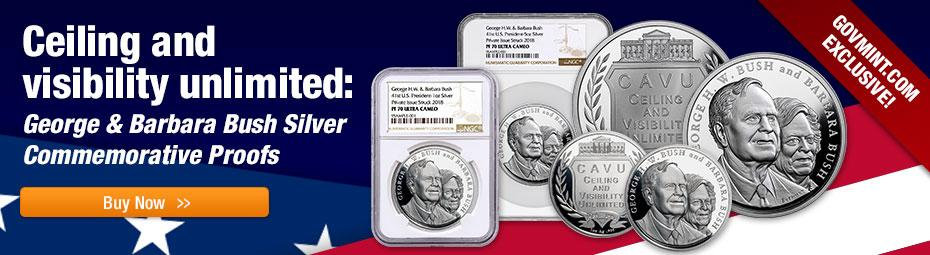Shop Silver George and Barbara Proofs Today!