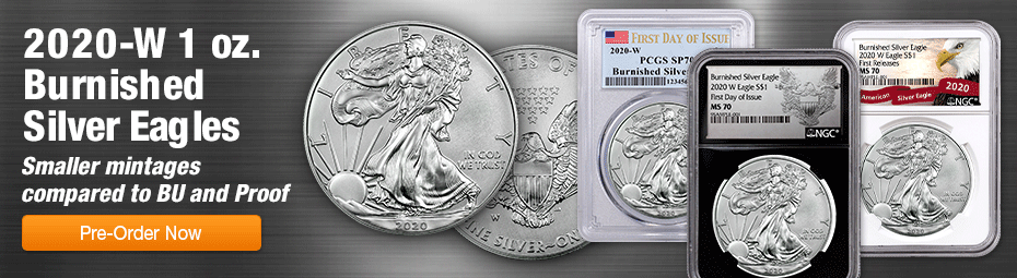 2020-W Burnished Silver Eagles