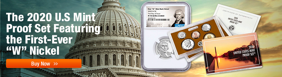 2020-S Proof set w/ featuring 2020-W Proof Nickel