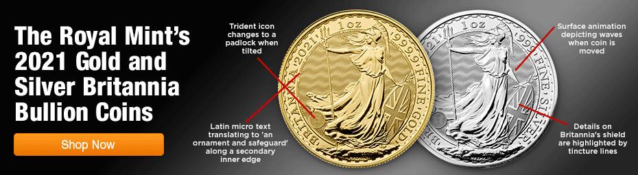 2021 Gold and Silver Britannia Bullion Coins at GovMint