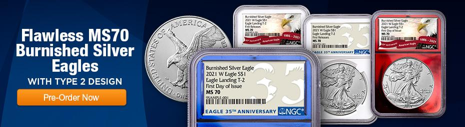 2021-W T2 Burnished American Silver Eagles