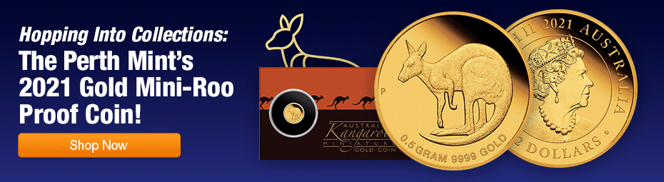 2021 Australia 1/2 gram Gold Mini Kangaroo Proof