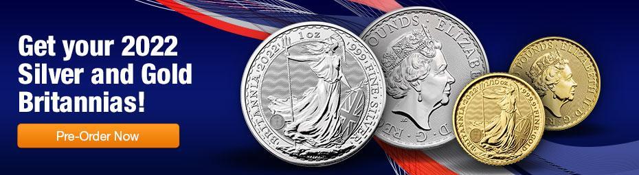 2022 Gold and Silver Britannia BU