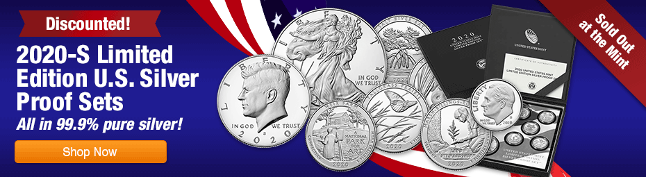 2020 8 coin proof sets discounted