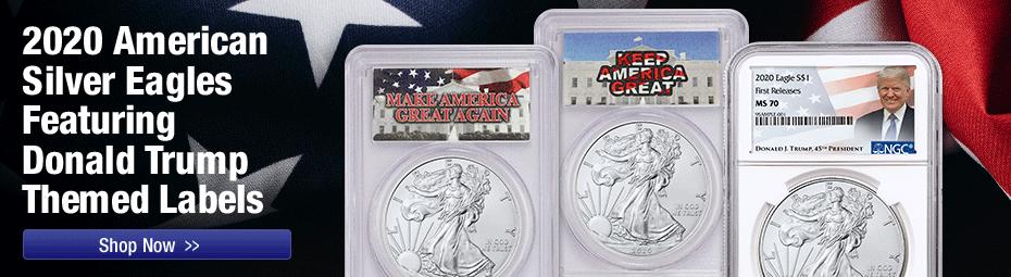 2020 Trump Label Silver Eagle