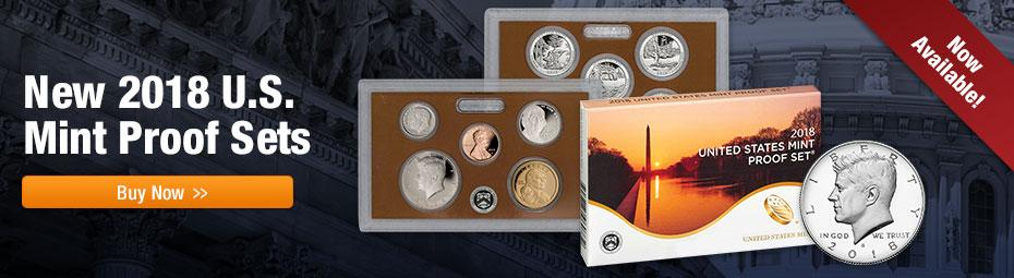 2018 US proof Sets Now Available