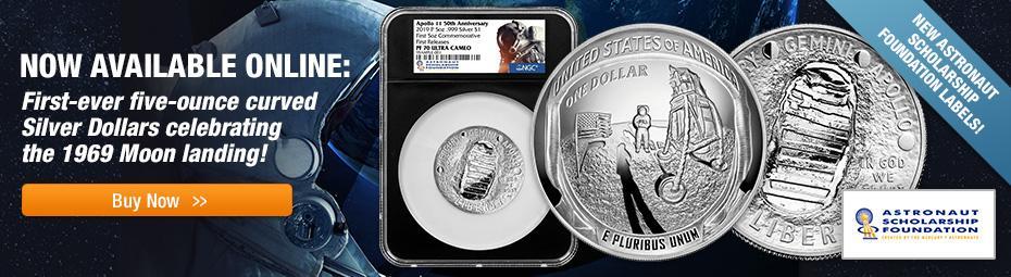 Shop 5-oz Apollo 11 Commemorative Coins Now!
