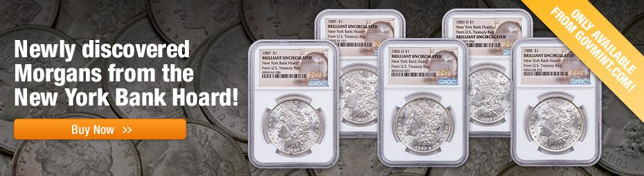 Shop Morgan Silver Dollars from the New York Bank Hoard!