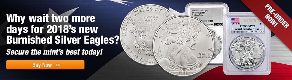 Pre-Sale Burnished Silver Eagles