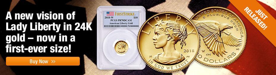 1/10oz Gold Liberty