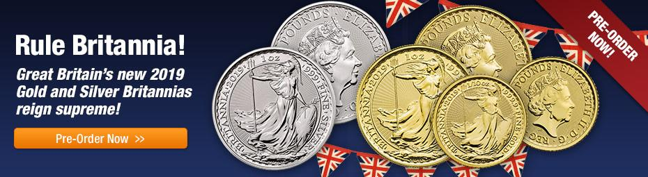 2019 Gold & Silver Britannias!
