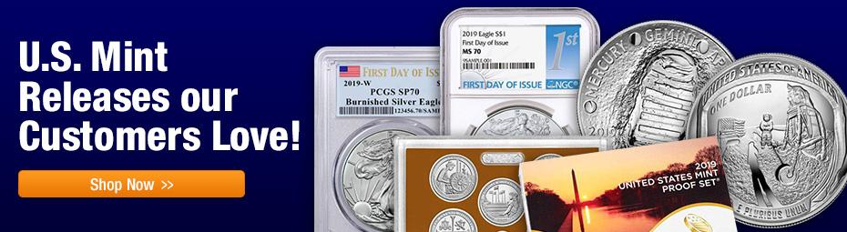 Coins Our Customers Love