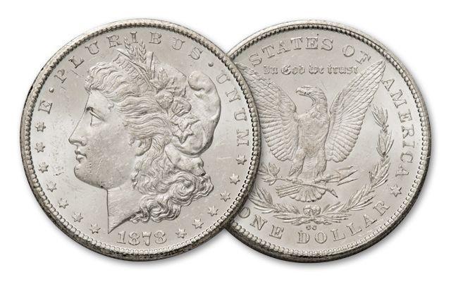 1878-CC 1 Dollar Morgan BU