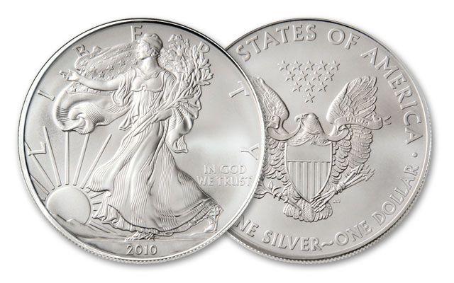 2010 1 Dollar 1-oz Silver Eagle BU