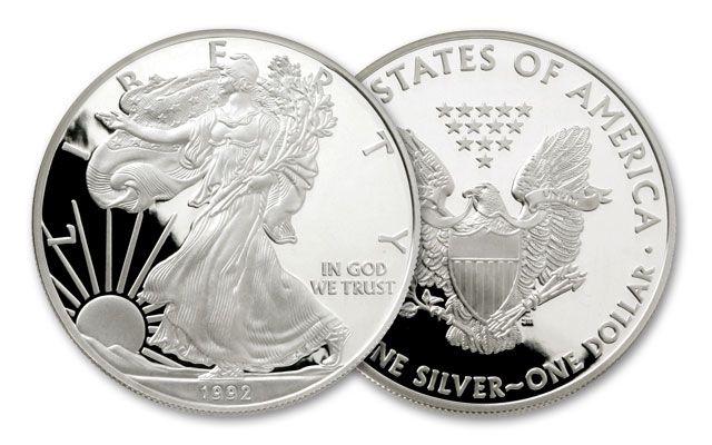 1992 1 Dollar 1-oz Silver Eagle Proof