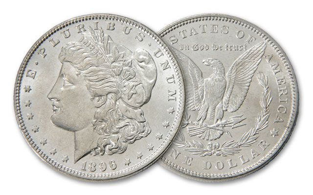 1896-P Morgan Silver Dollar BU