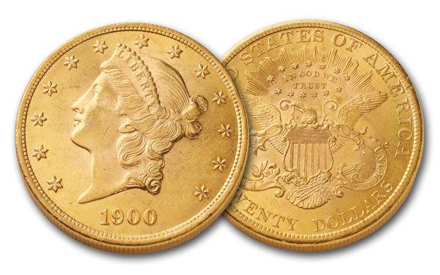 1849-1907 20 Dollar Gold Liberty BU