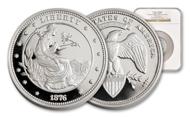 100 Dollar 5-oz Silver Union NGC Proof