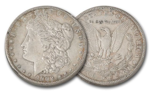 1902-P Morgan Silver Dollar XF