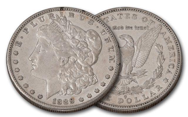 1889-S Morgan Silver Dollar XF