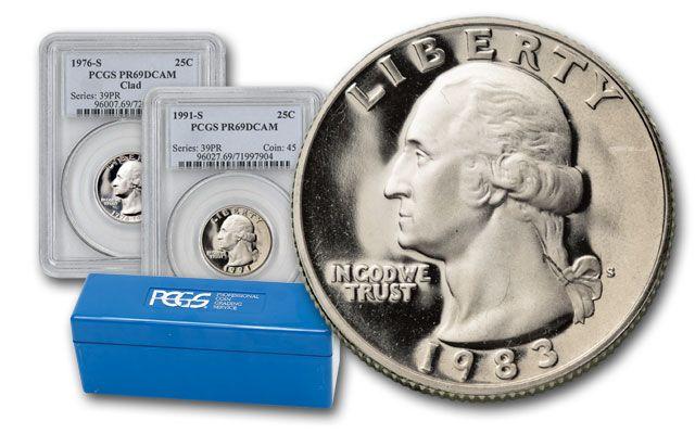 1979-1998 Washington Quarter 30pc Set PCGS PR69DCAM