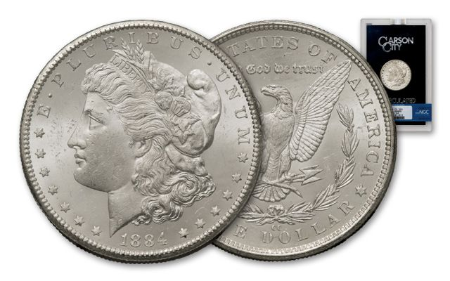 1884-CC Morgan Silver Dollar NGC MS64 GSA Holder