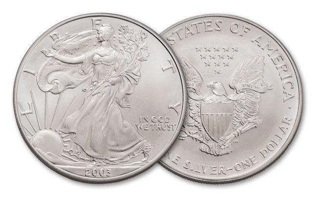 2003 1 Dollar 1-oz Silver Eagle BU