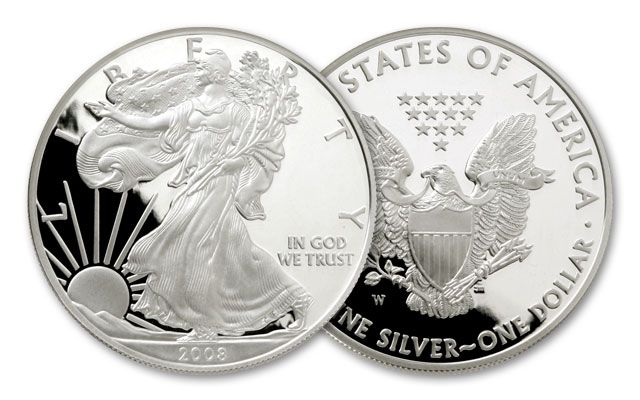 2008-W 1 Dollar 1-oz Silver Eagle Proof