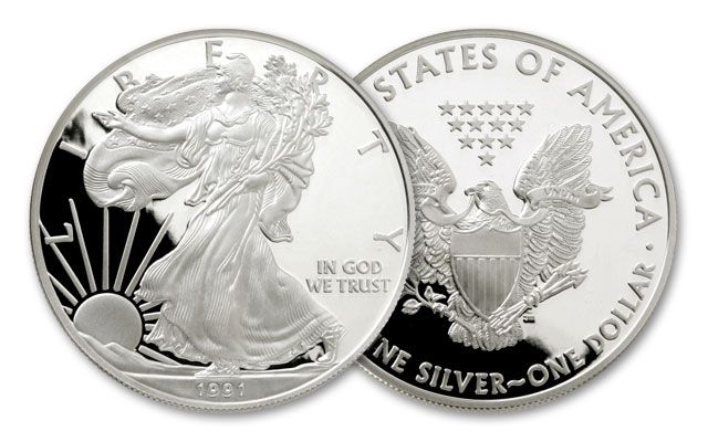 1991 S 1 Dollar 1 Oz Silver Eagle Proof