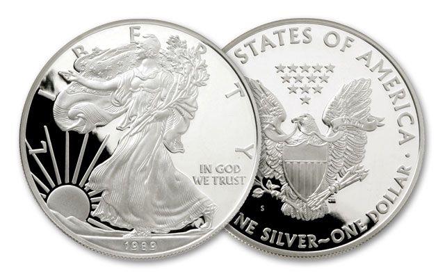1989-S 1 Dollar 1-oz Silver Eagle Proof