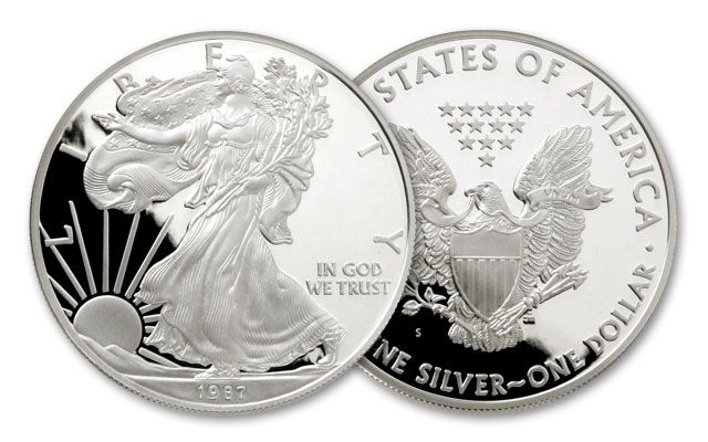 1987-S 1 Dollar 1-oz Silver Eagle Proof