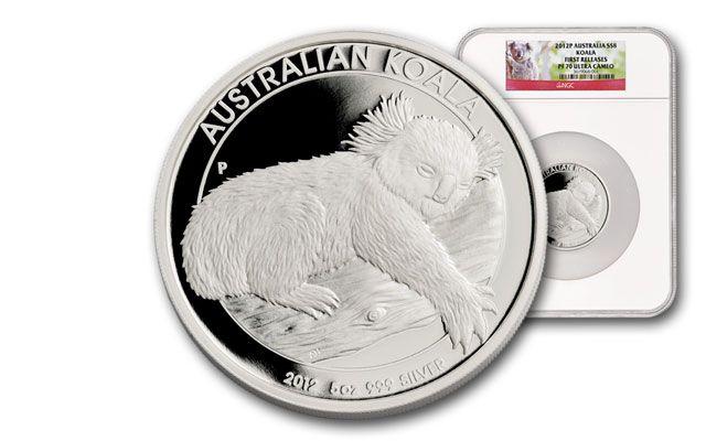 2012 Australia 5-oz Silver Koala Proof NGC PF70 First Release