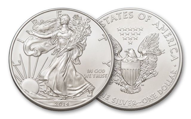 2014 1 Dollar 1-oz Silver Eagle BU