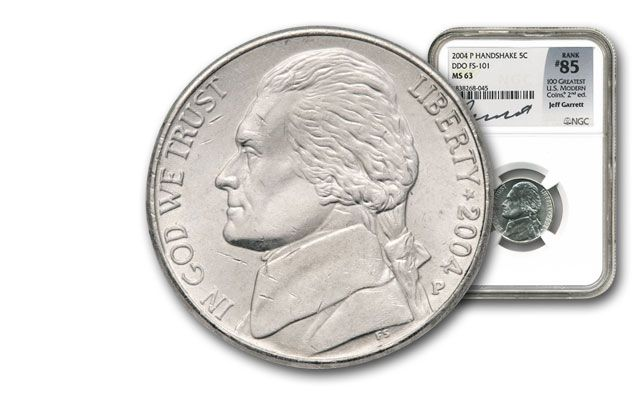 2004-P 5 Cent Jefferson Nickel DDO NGC MS63 - 100 Greatest Coins