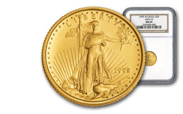 1999-W 5 Dollar 1/10-oz Gold Eagle NGC MS69